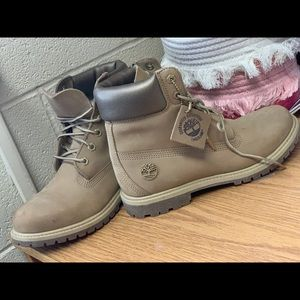 Waterproof Taupe Timberlands!